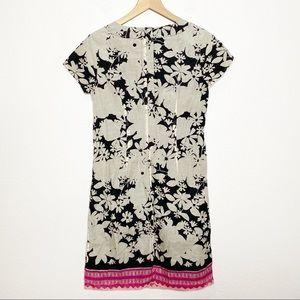 The Limited Dresses - [The Limited] Tan Black Floral Print Sheath Dress